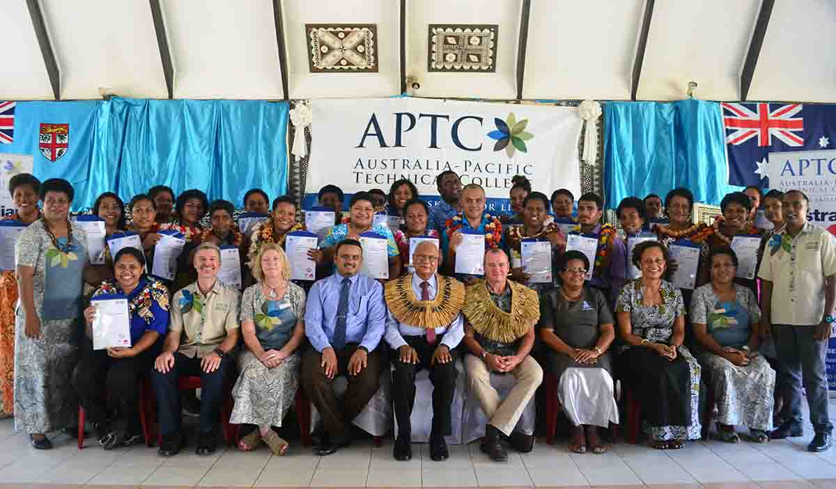 APTC Labasa Graduation official group photo.