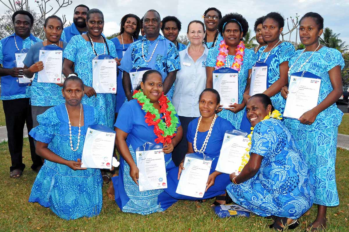 Graduates of the APTC Certificate III in Education Support program