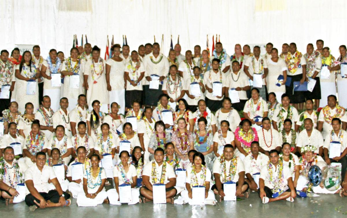 Official group photo of APTC Samoa graduation
