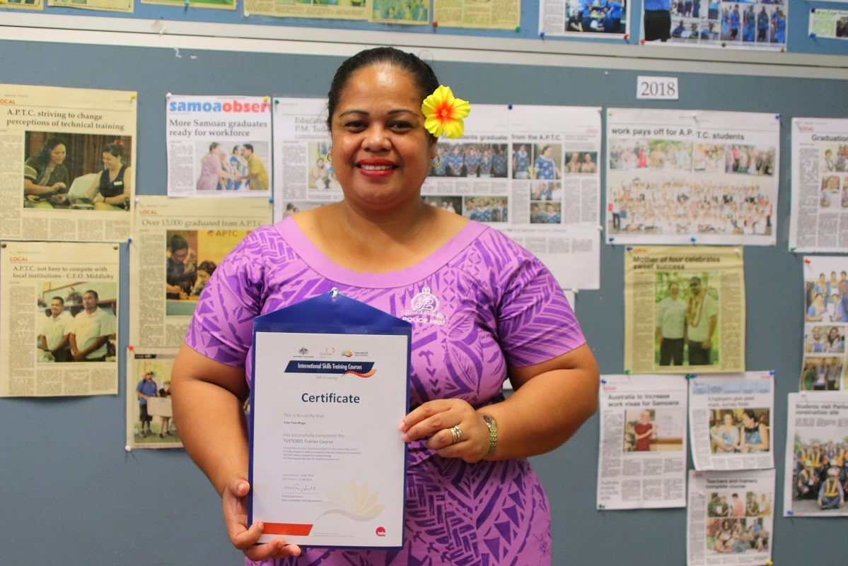 Samoan APTC students honoured at virtual graduation ceremony